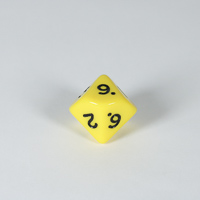 Opaque Yellow D10 Dice