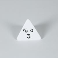 Opaque White D4 Dice