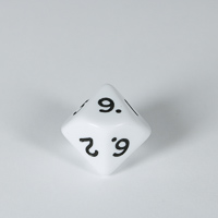 Opaque White D10 Dice