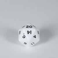 Opaque White D20 Dice