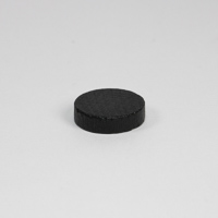 Wooden game counter, in black