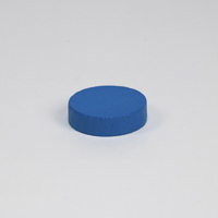 Wooden game counter, in blue