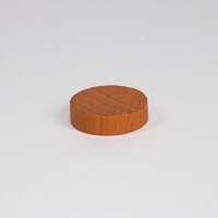 Wooden game counter, in orange