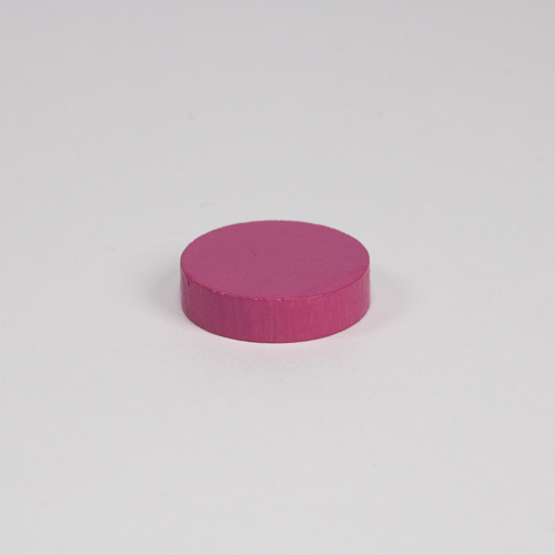 Wooden game counter, in pink