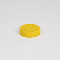 Wooden game counter, in yellow