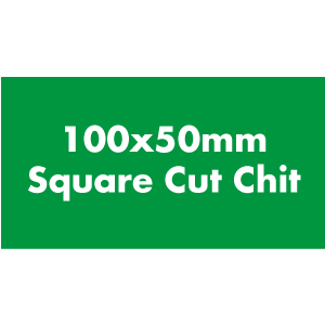 Made from our own chit board material, 100x50mm square cut chits. Often used as currency or rewards. One sided.