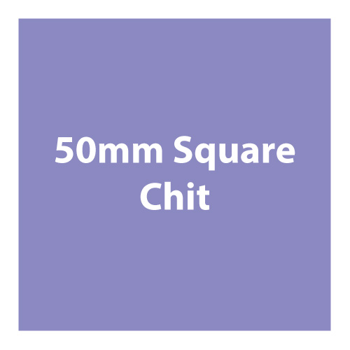 Made from board material, 50mm square chits that are often used as currency or rewards.