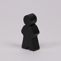 Wooden game person, in black