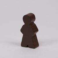 Wooden game person, in brown