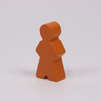Wooden game person, in orange