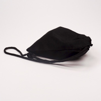 Draw string black cotton bag