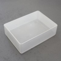 Rigid plastic storage box, great for games that don't need a printed box. A6 paper size (quarter A4)