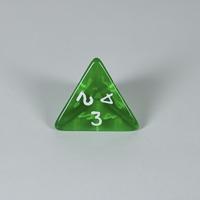 Gem Green D4 Dice