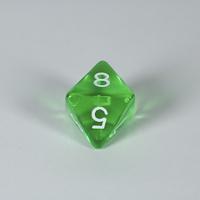Gem Green D8 Dice