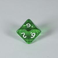 Gem Green D10 Dice