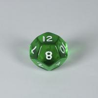 Gem Green D12 Dice