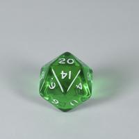 Gem Green D20 Dice