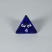 Gem Blue D4 Dice