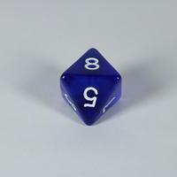 Gem Blue D8 Dice