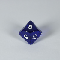 Gem Blue D10 Dice