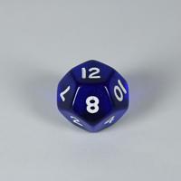 Gem Blue D12 Dice