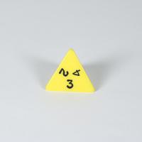 Opaque Yellow D4 Dice