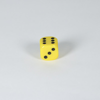 Opaque Yellow D6 Dice