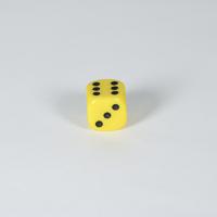 Opaque Yellow D6 Dice