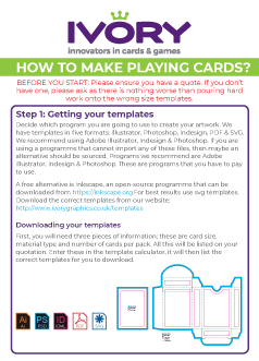 Download our How to make playing cards-ebook