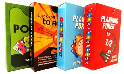 Various Planning Poker Cards